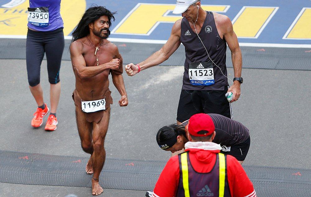 Naked marathon runner gets tasered